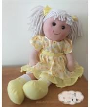 Lina Vestido Amarillo - Muñeca de trapo Waldorf - 40 cm