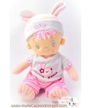 Niña rosa - Muñeca de trapo - 28 cm.