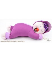 Siestina Lilac - Rag doll for infants - 37 cm