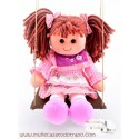 Rag doll Waldorf with swing - Lina - 35 cm